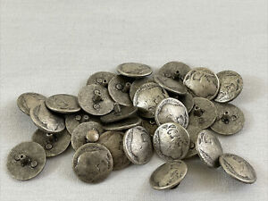 "Lot Of 33 Buffalo Nickel Buttons 3/4"" Diameter"
