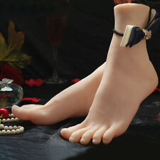1Pair Silicone Skin Feet Lifelike Left Right Female Legs Mannequin Display Model