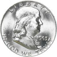 1963 D Franklin Half Dollar 90% Silver Choice BU  US Coin