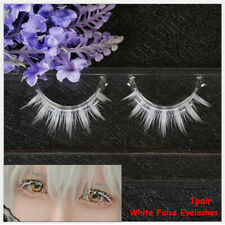 Fashion White False Eyelashes Long Cross Extension Cosplay Eye Makeup Tools