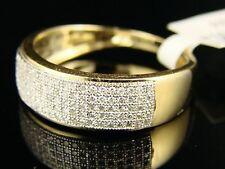 10K MENS YELLOW GOLD WEDDING BAND DIAMOND RING 7 MM 1/2