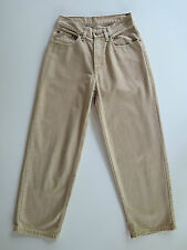 Women's L.L. Bean Tan Cotton Denim Relaxed Jeans 4 Petite 26 x 27 MSRP $58