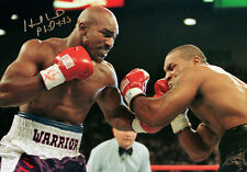 Evander Holyfield Vs Mike Tyson Signed 12x16 Boxing Photograph : A