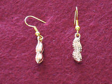 14K  gold plated peanut style earrings ...