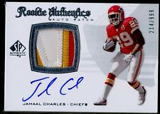 2008 UD SP Authentic JAMAAL CHARLES 3-Clr PATCH RC /999