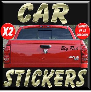 NEW 2x Personalised Stickers / Decals  Vinyl Lettering for Car Bike 4x4 Van KA