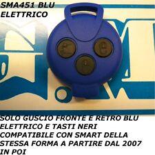COVER BLU ELETTRICO A 3 TASTI NERI PER CHIAVE TELECOMANDO SMART MHD FORTWO 451