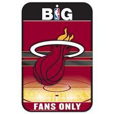 "Miami Heat Locker Room Sign 11""x17"""