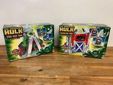The Incredible Hulk Steel Body Trap + Gamma Ray Trap Breakout Action Toybiz 2003