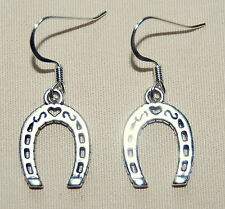 New BRIGHTON Lucky Horse Shoe charms on custom .925 earrings w- FREE SHIPPING !