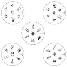 Konad Stamping Nail Art Circle Image Plate m11 m12 m13 m14 m15 DIY
