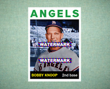 Bobby Knoop Los Angeles Angels 1964 Style Custom Baseball Art Card