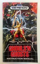 Ghouls 'n Ghosts - Sega Genesis - Reproduction Manual Instruction Booklet