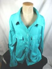 Women's Columbia Rocky Ridge Teal Long Sleeve Shirt, Size S, NWT