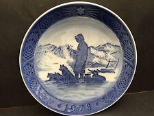 Copenhagen Blue Plate 1978 Greenland Scenery