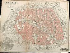 PLAN VON PARIS VON G.REUBKE BERLIN