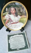 1997 BRADFORD-Gone With the Wind-Scarlet O'Hara Sunlight Radiance Oval Plate