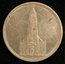 Germany Nazi 5 Reichmark 1934 F Potsdam Garrison Church .900 Silver KM#83 (T84)