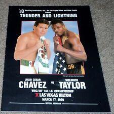 Julio Cesar Chavez vs Meldrick Taylor Boxing Program 3/17/1990