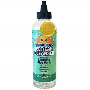 All Natural Pet Ear Cleaner for Dogs and Cats | Eucalyptus & Aloe Vera Cleaning
