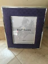Nib $200 Ralph Lauren Silver & Lavender Suede Picture Frame for 8 x 10 Photo