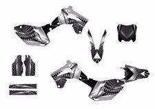 2013 2014 2015 2016 CRF 450R graphics custom decal kit #7777 Gray Metal