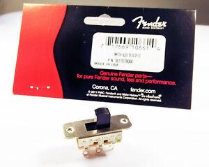 Genuine Fender Switchcraft Jaguar/Jazzmaster Pickup Upper Slide Switch