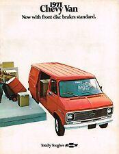 <late> 1971 Chevy Van Brochure / Catalog : GS/GE10,20,30,GS10,20,30,110,125,
