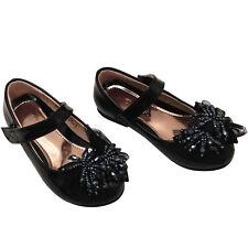niña infantil Rojo Negro Zapatos de tacón bajo talla 8-3
