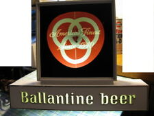 VINTAGE EARLY 1960'S BALLANTINE BEER LIGHTED BAR SIGN WITH SPINNING MOTION.