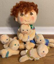 VTG 1985 Kenner Hugsy Tuggins Hugga Bunch Plush Doll And Babies