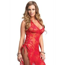 09bba3bad LA-88009 Sexy 2pc Rose Lace Red Long Dress Gown   G-String Bedroom