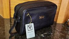 VALENTINO RUDY Man or Woman Unisex Strap Black Purse w Compartments ITALY NWT!