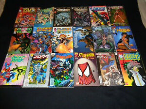 LOT DE 18 COMICS SPIDER-MAN WITCHBLADE SPAWN 2099 / MARVEL SEMIC IMAGE TOP COW
