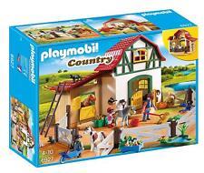 Playmobil Country Pony Farm Kids Playset Pony Stalls Storage Loft Horse Figures