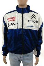 Giacca da uomo vintage taglia M sponsor rally Citroen felpa pilota con zip usata