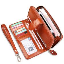 Women Leather Wallet Long Zip Purse Ladies Card Holder Case Clutch Phone Handbag