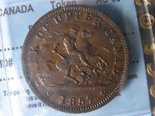 PC-6D CCCS AU-50 One Penny token 1857 Bank of Upper Canada Breton 719