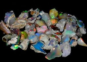 A+++  Quality Natural Untreated Ethiopian opal Rough Lot