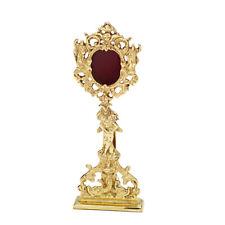 Reliquary Monstranz Hausaltar brass Luna opening rear gold gloss for church home