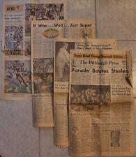 1976 Pittsburgh Steelers Super Bowl X Champions Pittsburgh Press FULL Newspaper