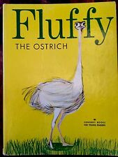 FLUFFY THE OSTRICH ~ RARE Vintage 1950's Children's Hardcover Story Book