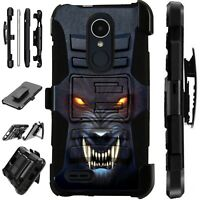 For Apple / LG Phone Case Holster Kick Stand Cover ANGRY WEREWOLF Lux Guard