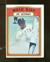 1972 Topps Baseball #50 WILLIE MAYS San Francisco Giants Good (CT24)