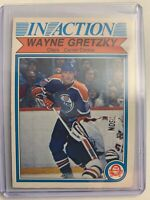 1982-83 O-Pee-Chee In Action #107 Wayne Gretzky Edmonton Oilers Insert Card