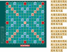 Green Scrabble Board Cake Topper 10 Inch Square  Latin with Letters Icing sheet