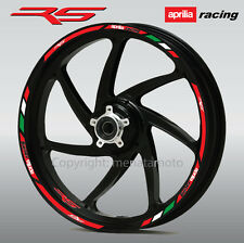 aprilia racing RS motorbike wheel decals rim stickers stripes rs50 rs125 rs250 R