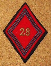 insigne losange - 28° régiment d'artillerie - avec attache