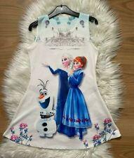 🌸Frozen Mädchen Kleid 146/152 Sommerkleid kurzarm Long Top 12 Jahre🌸