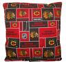 Blackhawks Pillow NHL Chicago Hockey Black Hawks Handmade In USA